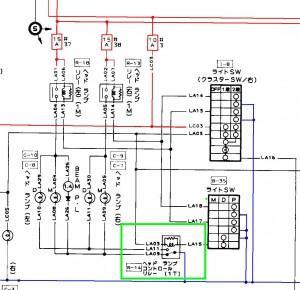 フェアレディZ32ライト配線図